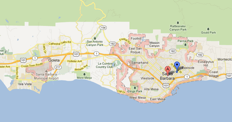 Rediscover Santa Barbara Santa Barbara Days Out – Santa Barbara Tourist Map
